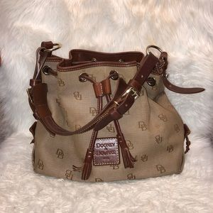 Dooney and Bourke Tan and Leather Purse